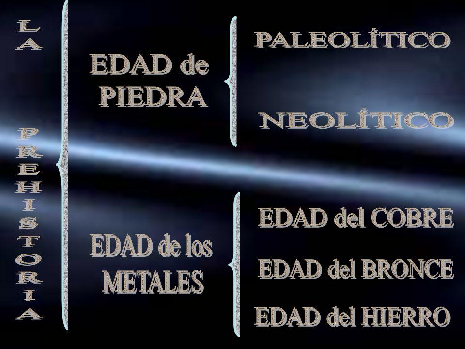 LA PREHISTORIA PALEOLÍTICO EDAD de PIEDRA NEOLÍTICO EDAD del COBRE