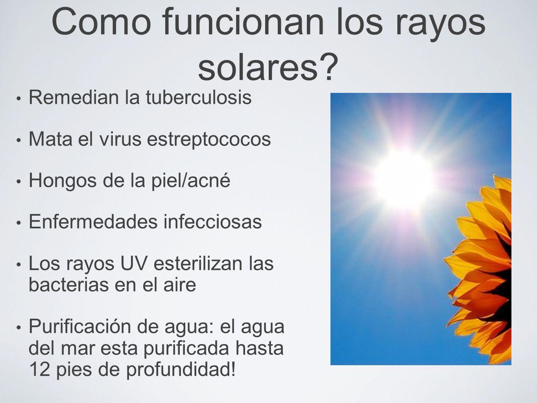 Como funcionan los rayos solares