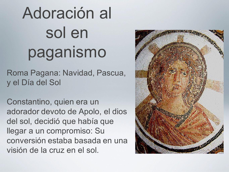 Adoración al sol en paganismo