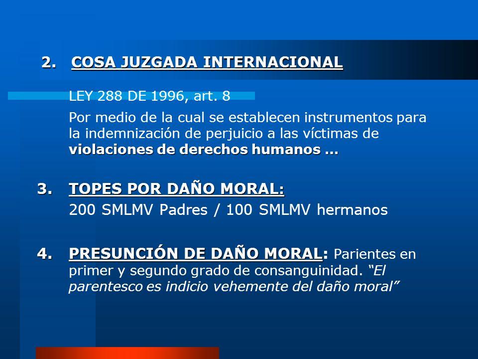 2. COSA JUZGADA INTERNACIONAL