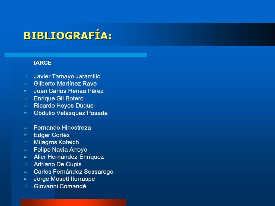 BIBLIOGRAFÍA: Javier Tamayo Jaramillo Gilberto Martínez Rave