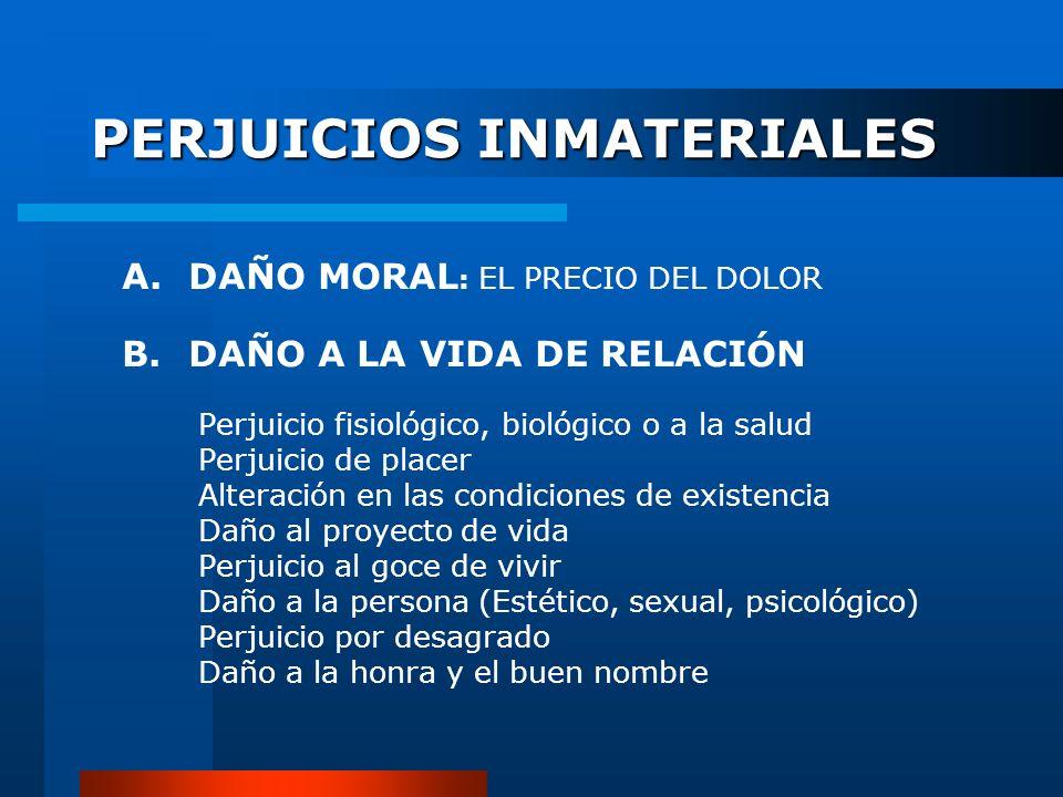 PERJUICIOS INMATERIALES