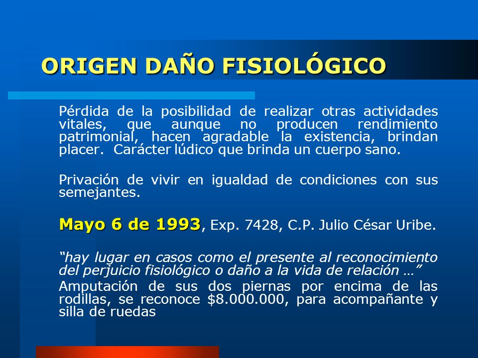 ORIGEN DAÑO FISIOLÓGICO