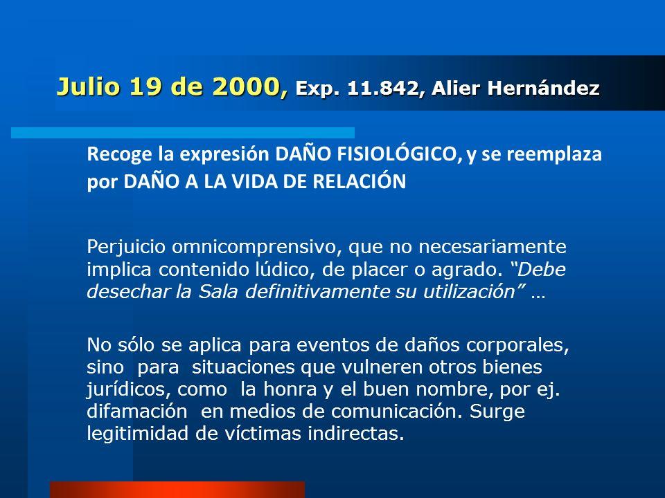 Julio 19 de 2000, Exp. 11.842, Alier Hernández