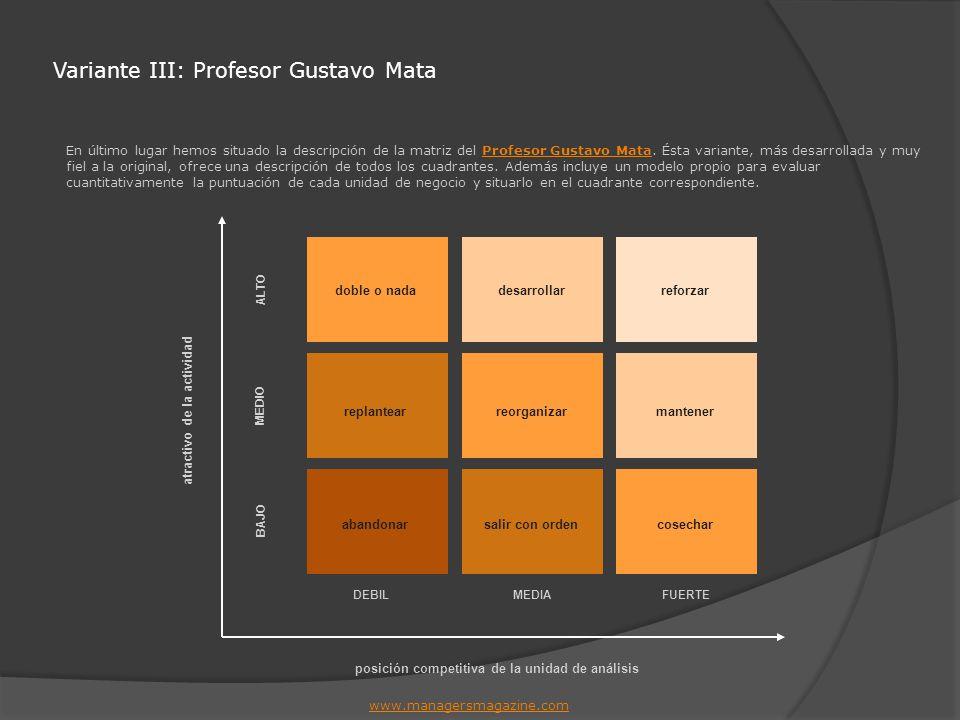 Variante III: Profesor Gustavo Mata