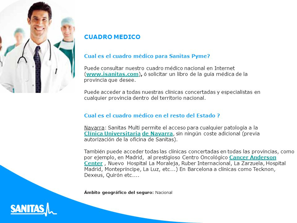 Oferta especial sanitas pyme ndice que es sanitas pyme for Oficinas sanitas barcelona