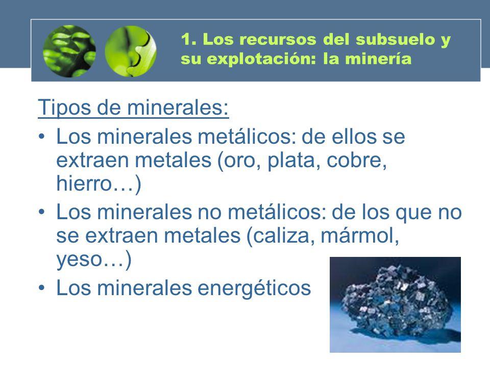 1. Los recursos del subsuelo y su explotación: la minería