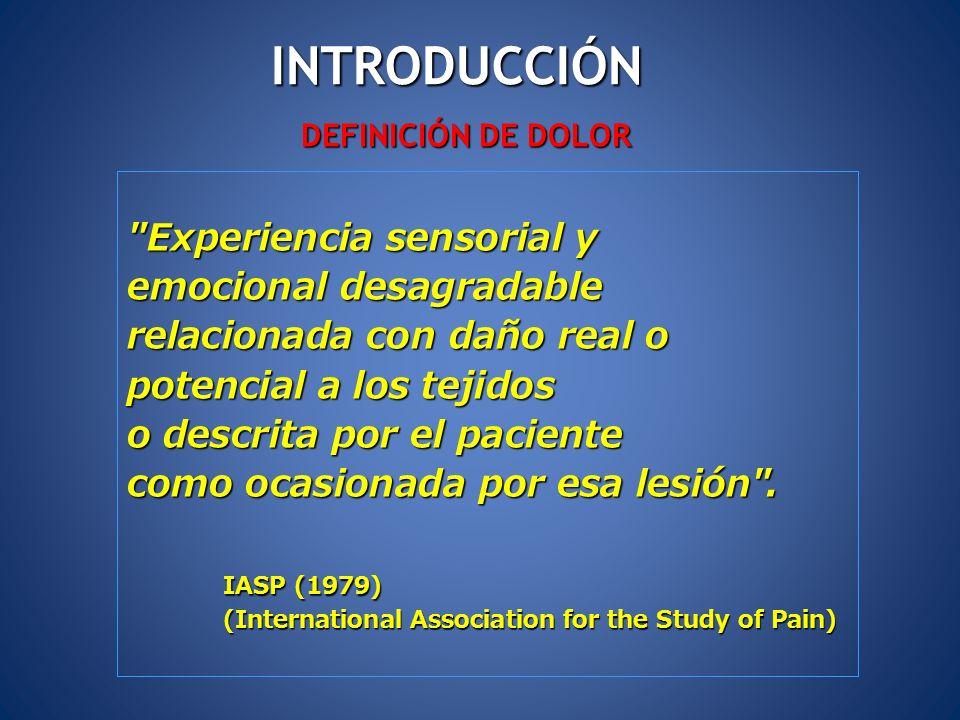 INTRODUCCIÓN Experiencia sensorial y emocional desagradable