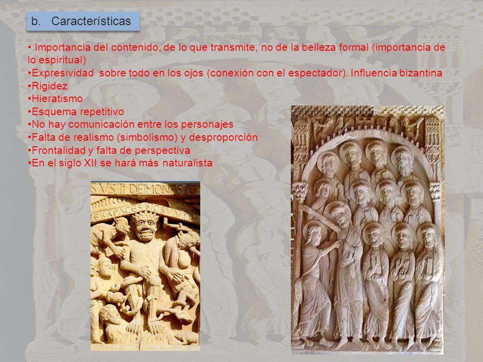 b. Características Importancia del contenido, de lo que transmite, no de la belleza formal (importancia de lo espiritual)
