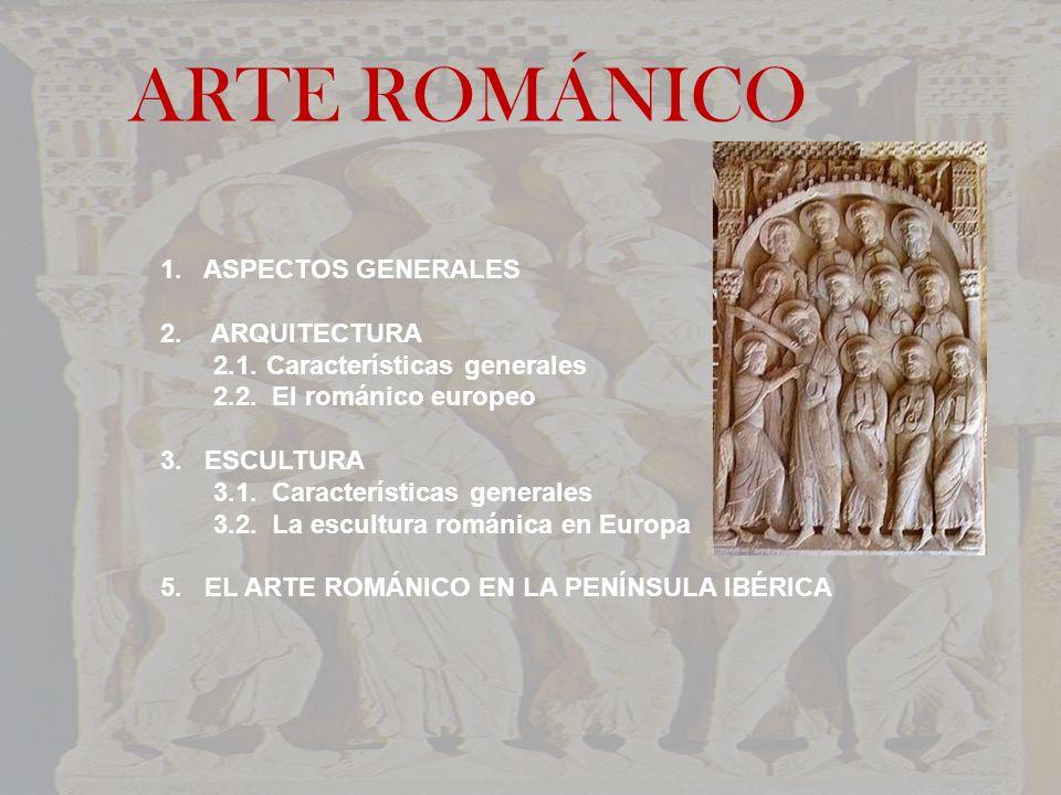 ARTE ROMÁNICO 1. ASPECTOS GENERALES 2. ARQUITECTURA