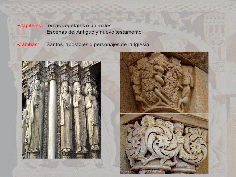 Capiteles: Temas vegetales o animales