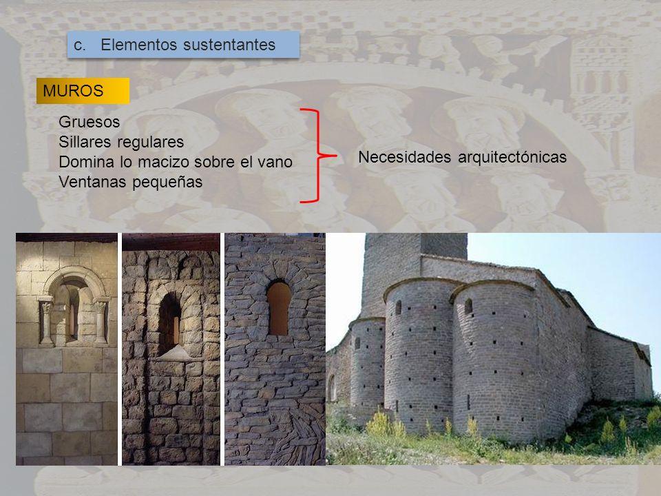 c. Elementos sustentantes