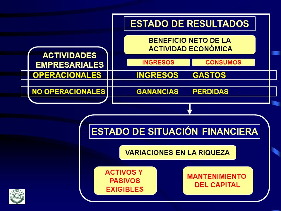 ESTADO DE SITUACIÓN FINANCIERA VARIACIONES EN LA RIQUEZA