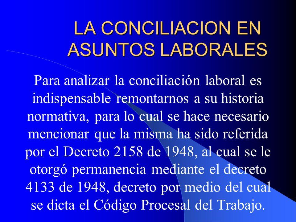 LA CONCILIACION EN ASUNTOS LABORALES