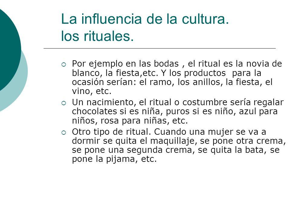 La influencia de la cultura. los rituales.