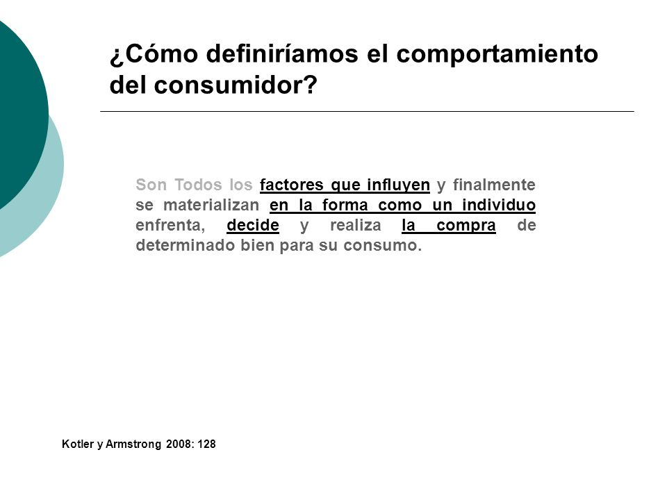 ¿Cómo definiríamos el comportamiento del consumidor