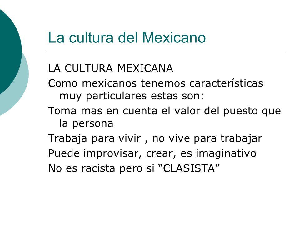 La cultura del Mexicano