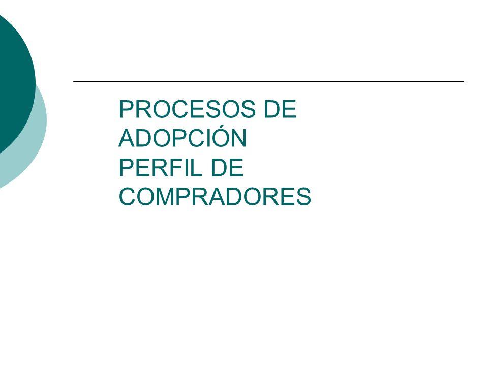 PROCESOS DE ADOPCIÓN PERFIL DE COMPRADORES
