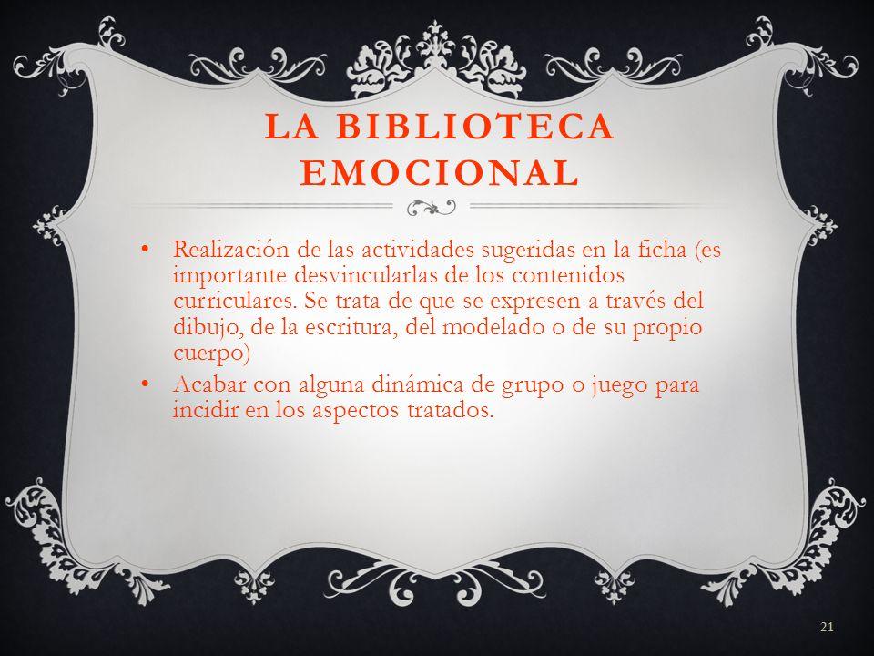 LA BIBLIOTECA EMOCIONAL
