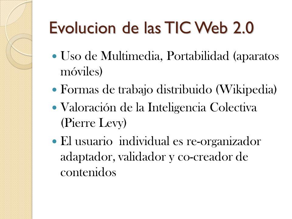 Evolucion de las TIC Web 2.0