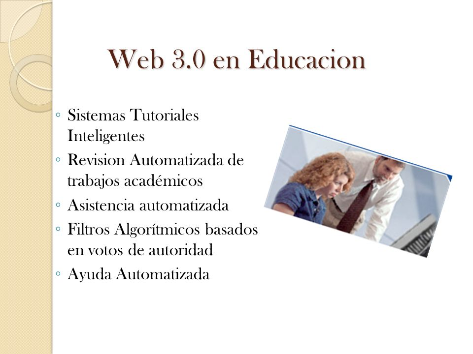 Web 3.0 en Educacion Sistemas Tutoriales Inteligentes