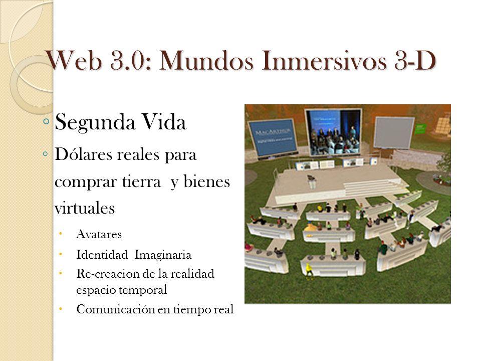 Web 3.0: Mundos Inmersivos 3-D