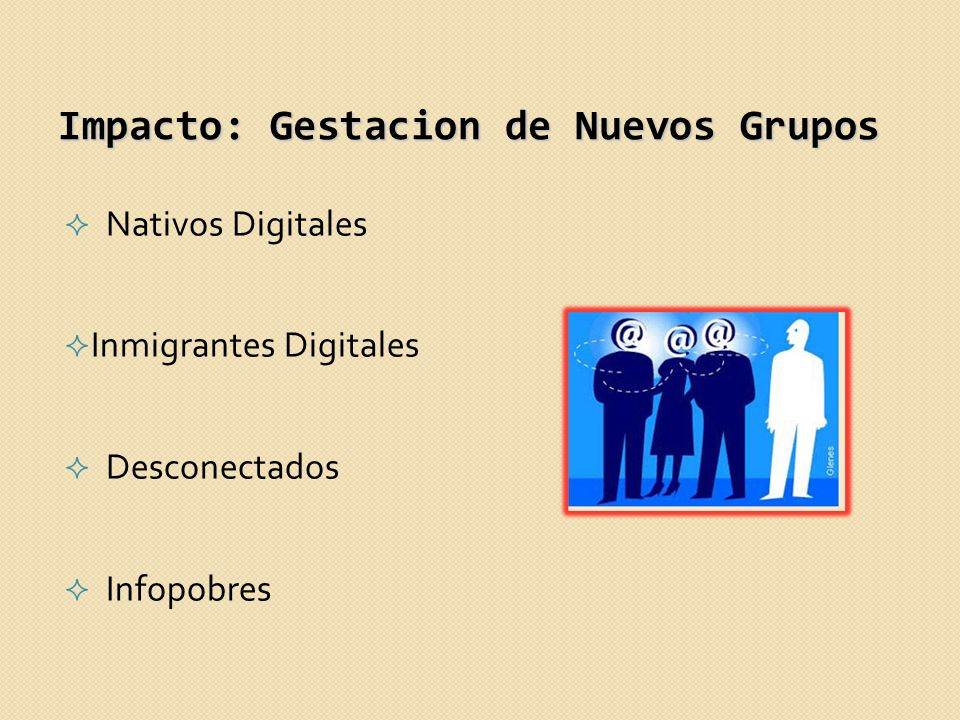 Impacto: Gestacion de Nuevos Grupos