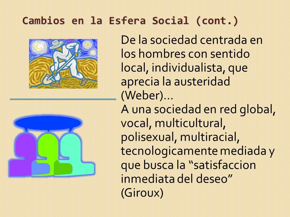 Cambios en la Esfera Social (cont.)