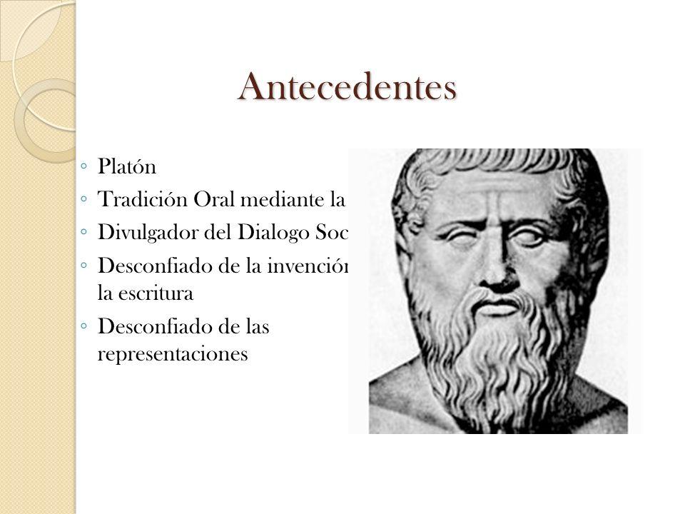 Antecedentes Platón Tradición Oral mediante la Ilíada