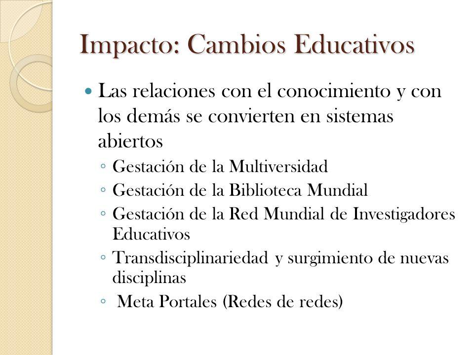 Impacto: Cambios Educativos