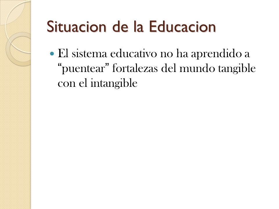 Situacion de la Educacion