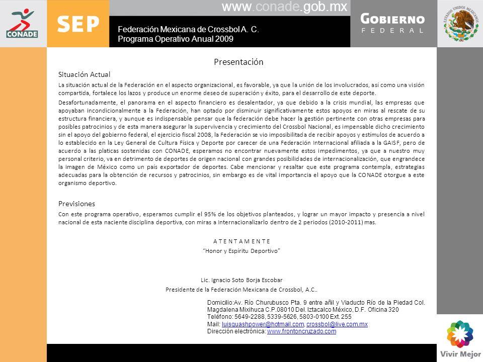 www.conade.gob.mx Presentación