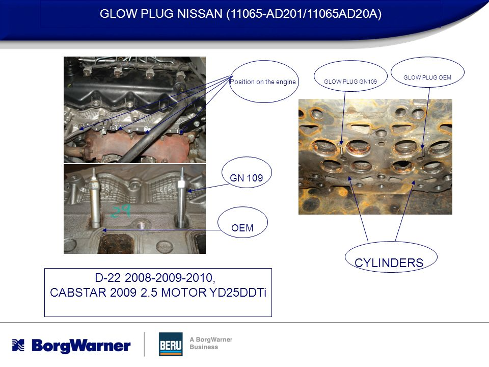GLOW PLUG NISSAN (11065-AD201/11065AD20A)