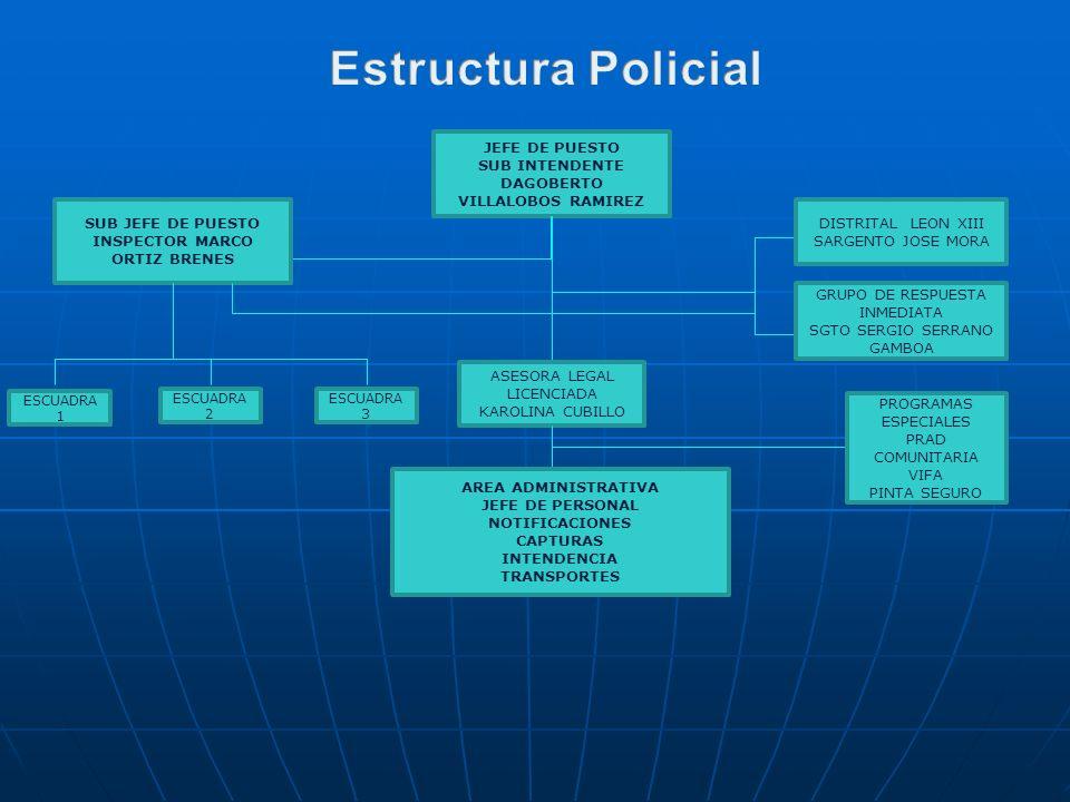 Estructura Policial JEFE DE PUESTO