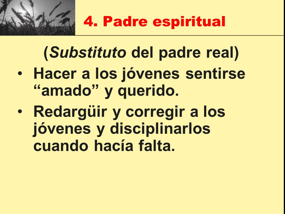 (Substituto del padre real)