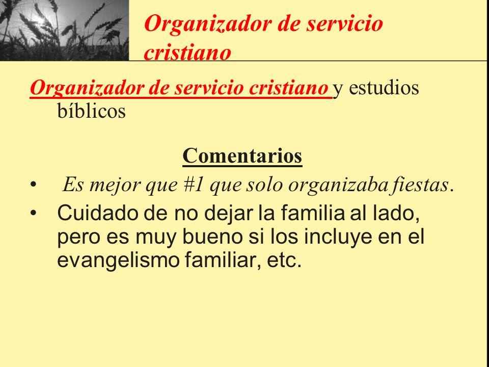 Organizador de servicio cristiano