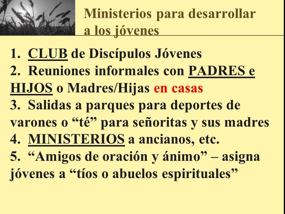 Ministerios para desarrollar a los jóvenes
