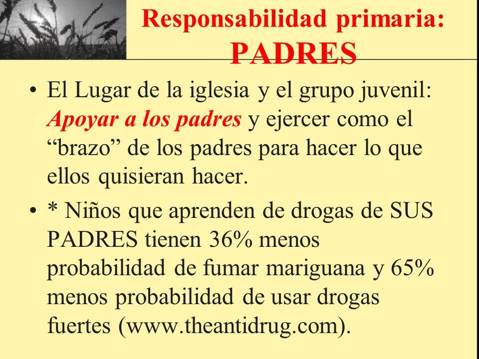 Responsabilidad primaria: PADRES