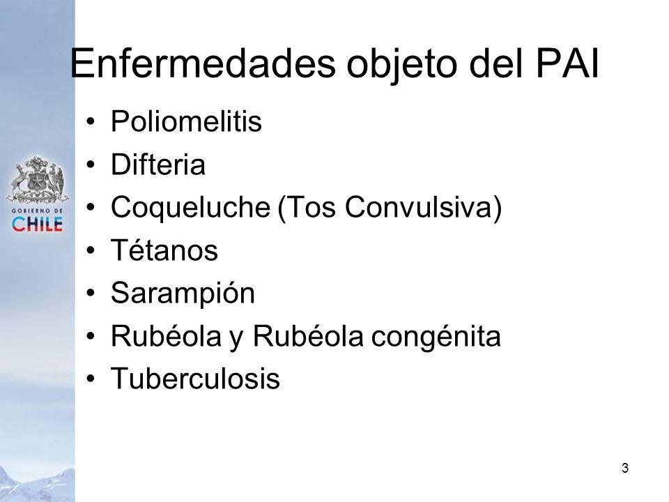 Enfermedades objeto del PAI