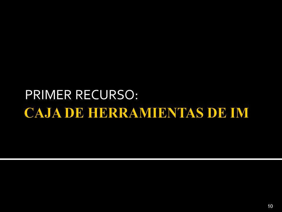 CAJA DE HERRAMIENTAS DE IM