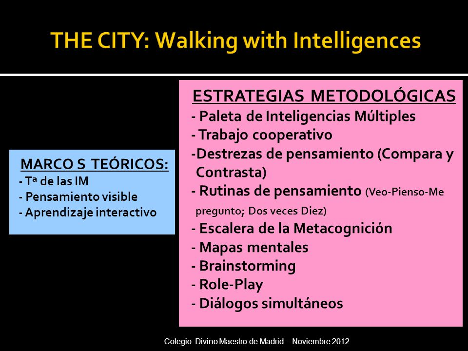 THE CITY: Walking with Intelligences