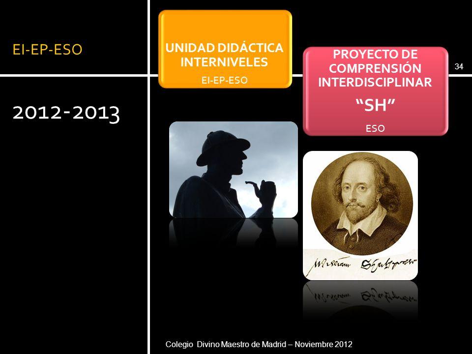 UNIDAD DIDÁCTICA INTERNIVELES PROYECTO DE COMPRENSIÓN INTERDISCIPLINAR