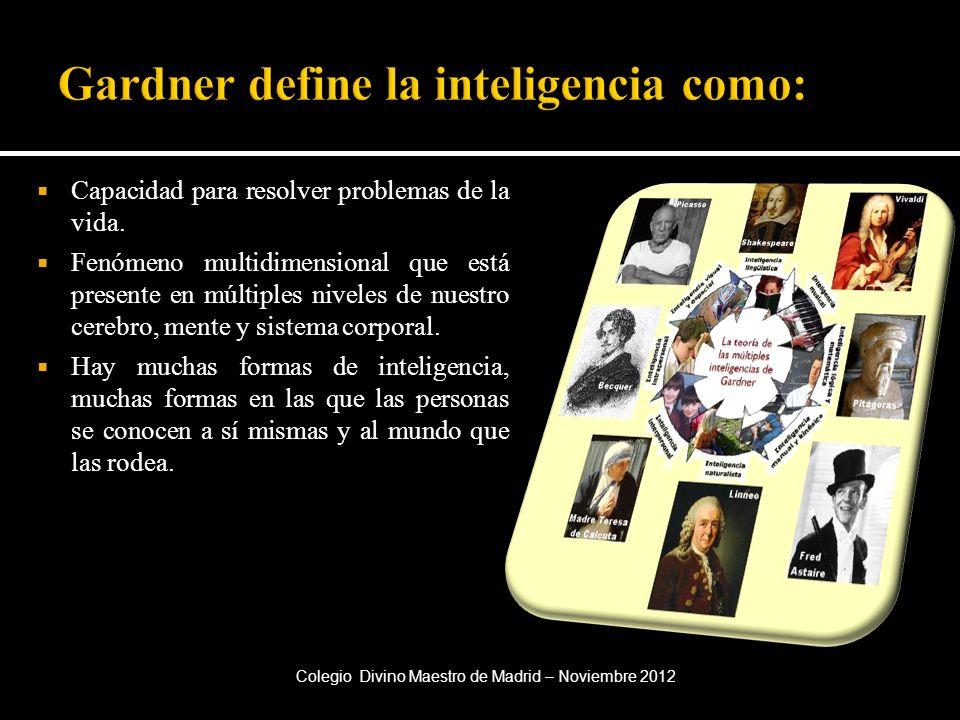 Gardner define la inteligencia como:
