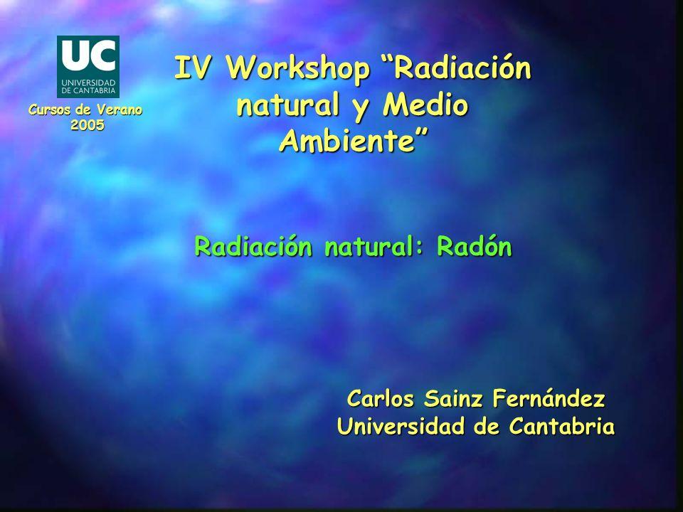 IV Workshop Radiación natural y Medio Ambiente