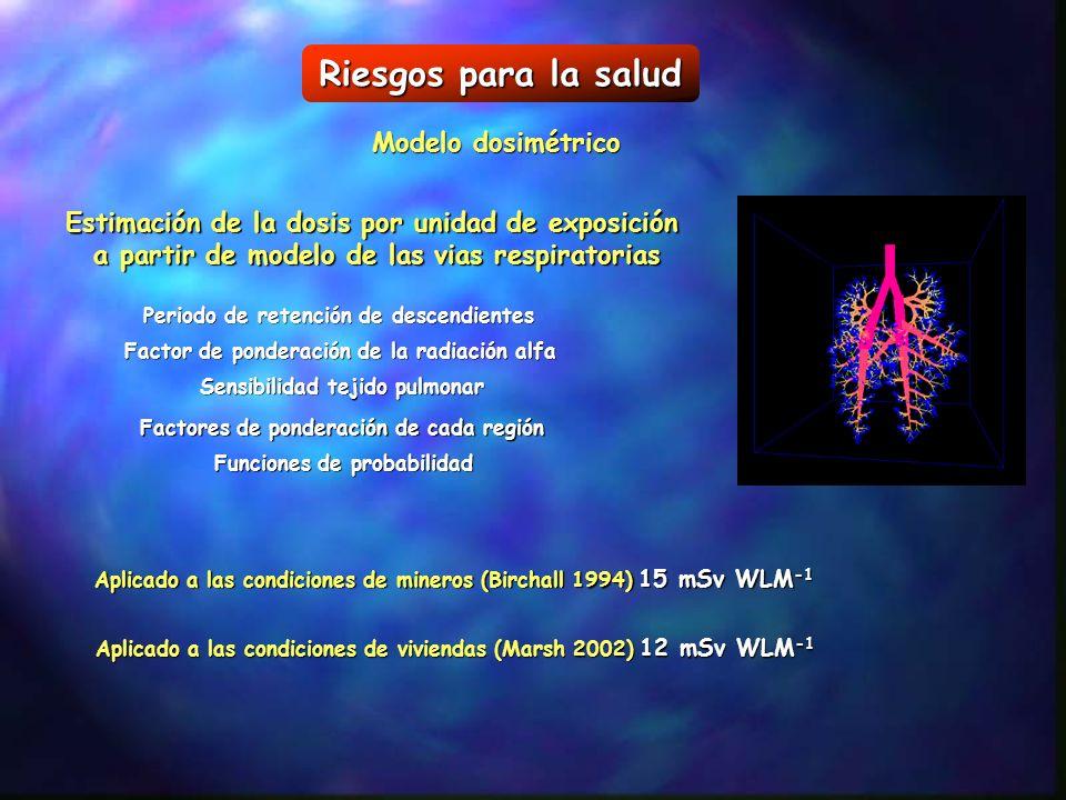 Riesgos para la salud Modelo dosimétrico