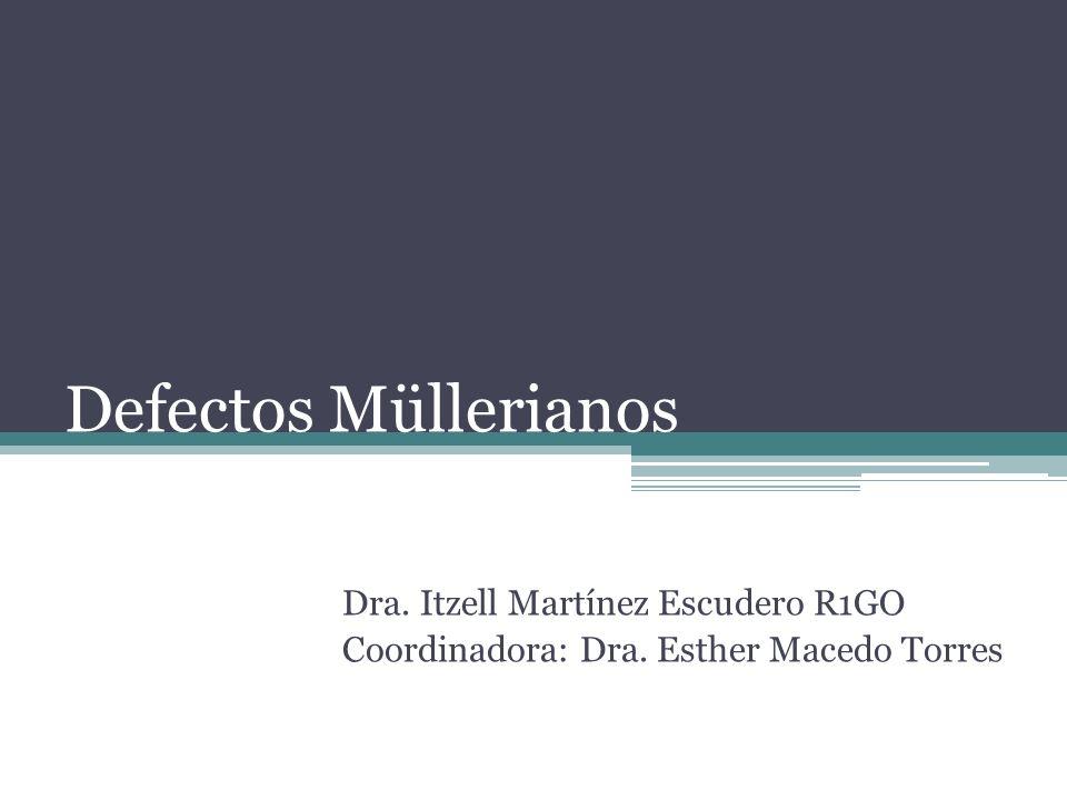 Defectos Müllerianos Dra. Itzell Martínez Escudero R1GO