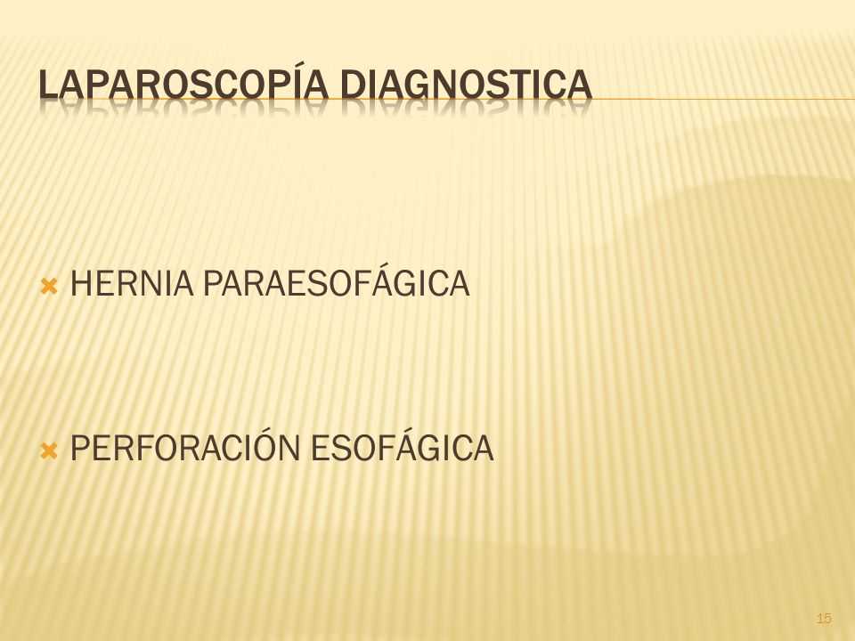 LAPAROSCOPÍA DIAGNOSTICA