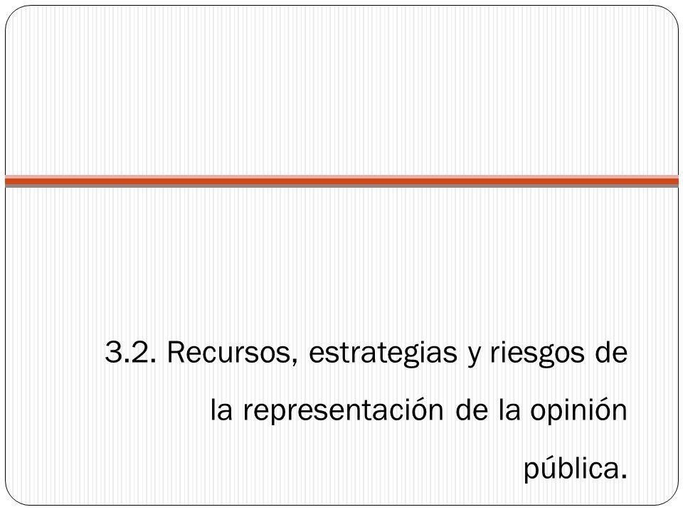 3.2. Recursos, estrategias y riesgos de la representación de la opinión pública.