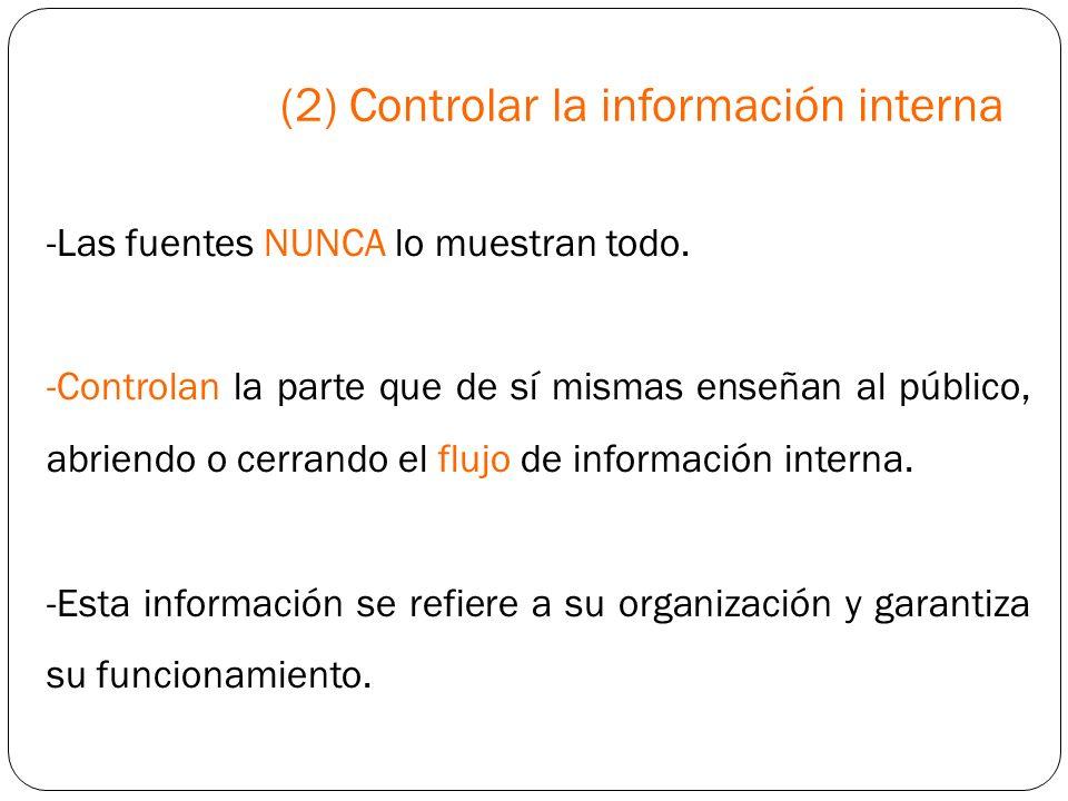 (2) Controlar la información interna