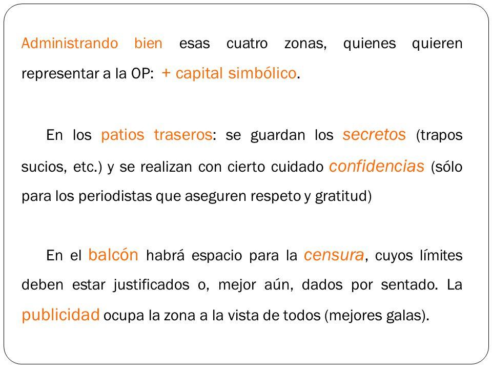 Administrando bien esas cuatro zonas, quienes quieren representar a la OP: + capital simbólico.